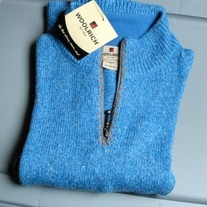 Woolrich Light Blue Partial-Zip Sweater Size S NWT